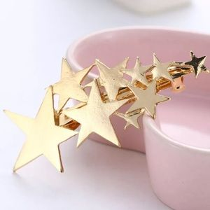 3/$20...Gold Stars Hair Barrette Clip